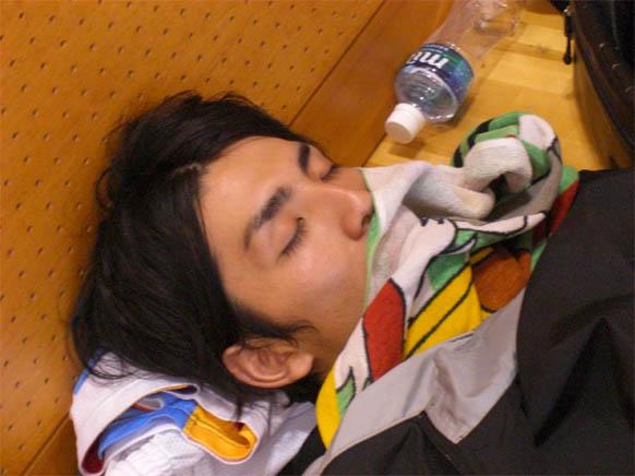 マリオの寝顔