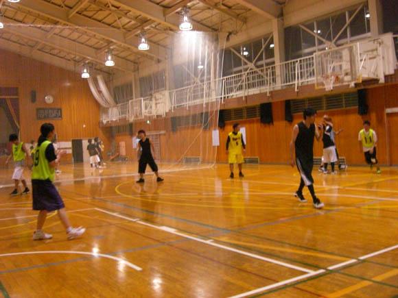 バスケ練習の様子