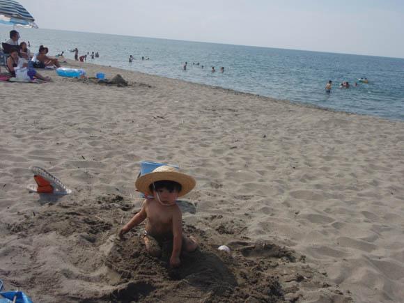 砂の触り心地が好き
