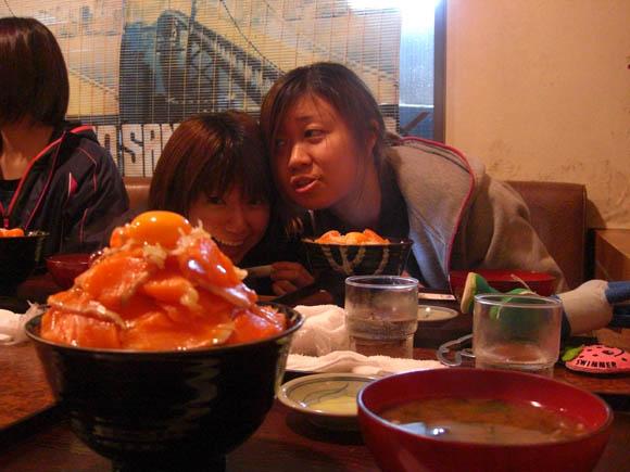 大盛りサーモン丼