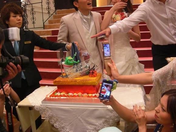二次会で出てきたケーキ