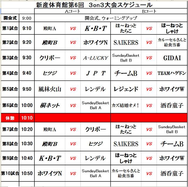 2013新産3オン3組み合わせ1