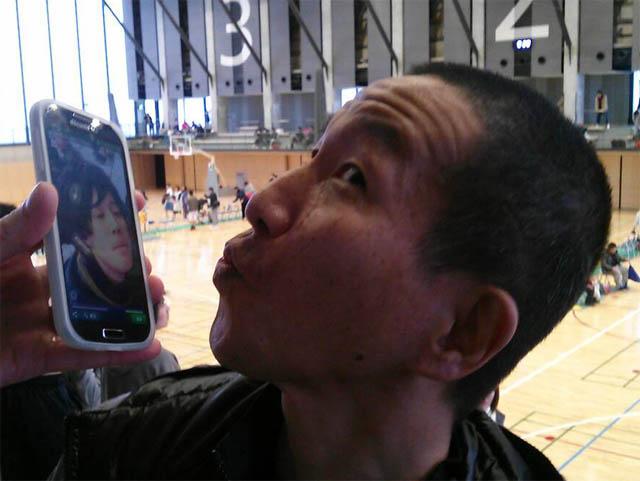 HISAさんのキス顔